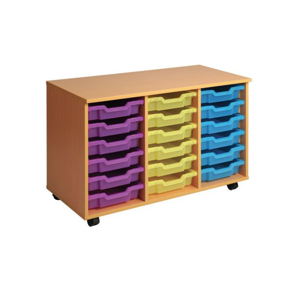 Triple Column Storage Unit