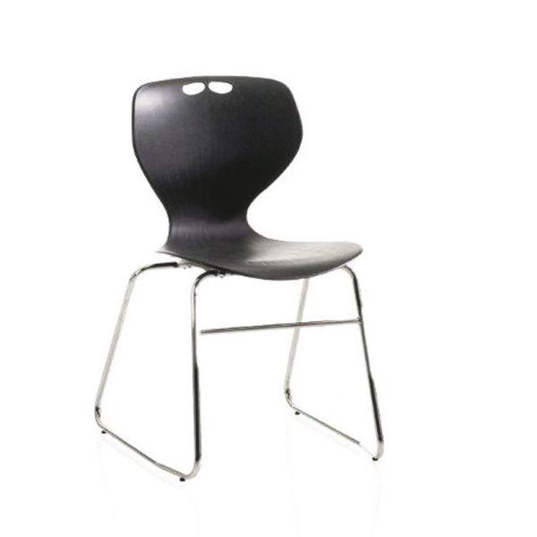 Mata Chrome Frame Skid Base Chair