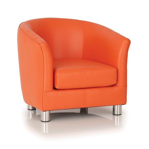 orange designer tub chair