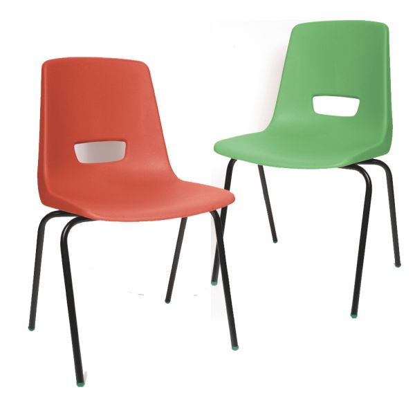 P3 Polypropylene Classroom Chair Red & Green