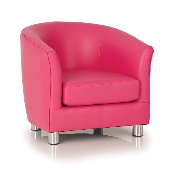 flamingo pink designer tub chair