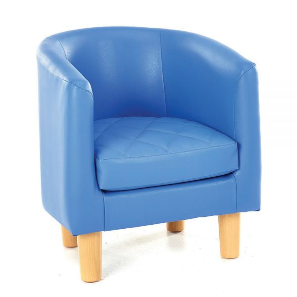 Childrens Quilted Tub Chair Blue