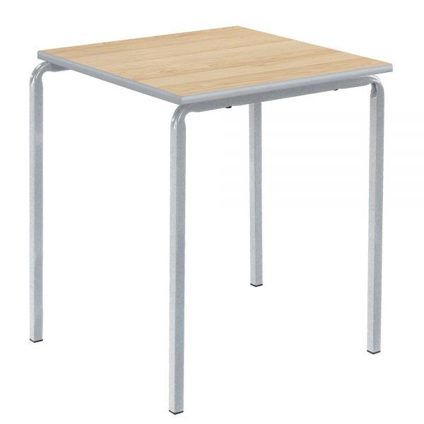 Newport Sprayed PU Square Classroom Table - Crush Bent