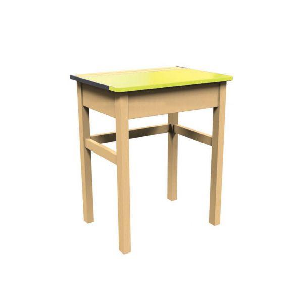 Traditional Single Locker Desk Yellow