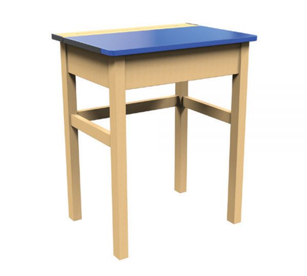 Traditional Single Locker Desk Blue