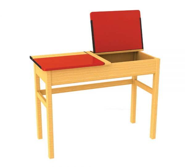 Traditional Double Locker Desk Red