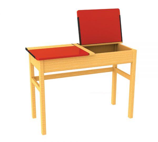 Traditional Double Locker Desk Red