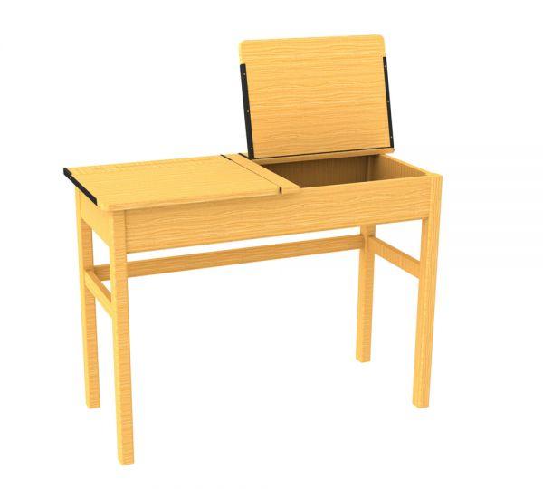 Traditional Double Locker Desk Beech