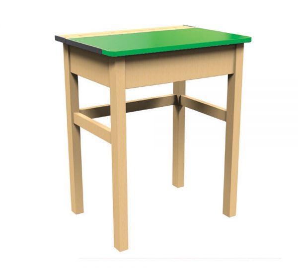 Traditional Single Locker Desk Green