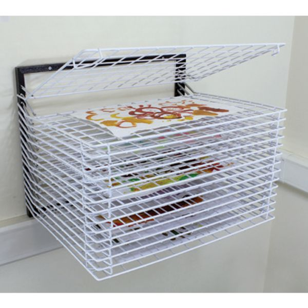 Wall Mounted Drying Rack 15 Shelves Spring Loaded