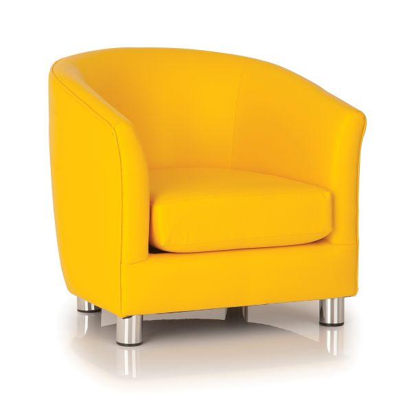 yellow designer tub chair