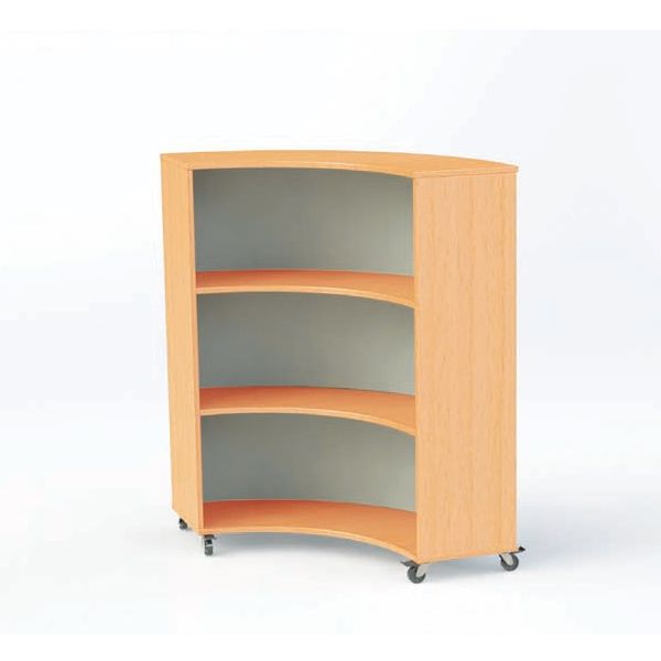 Nexus 1115mm Deep Double Sided Curved Bookcases