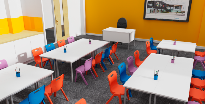 We design classrooms, libraries and areas of work, maximising potential and giving people a place to flourish